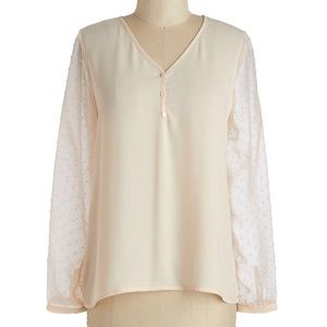 ModCloth See and Be Serene Top 4X